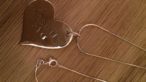 Custom Made Sterling Silver Personalized Heart Pendant