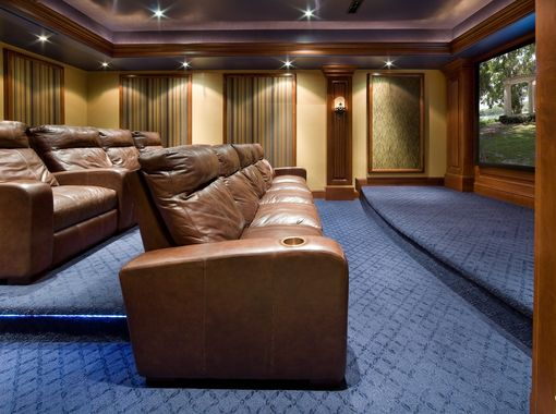 Custom Made Home Theater Woodwork