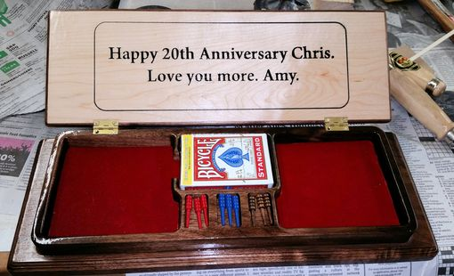 Custom Made Custom Personalized Cribbage Set