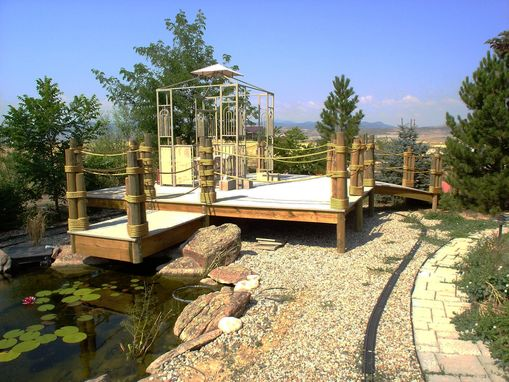 Custom Made Pond Deck