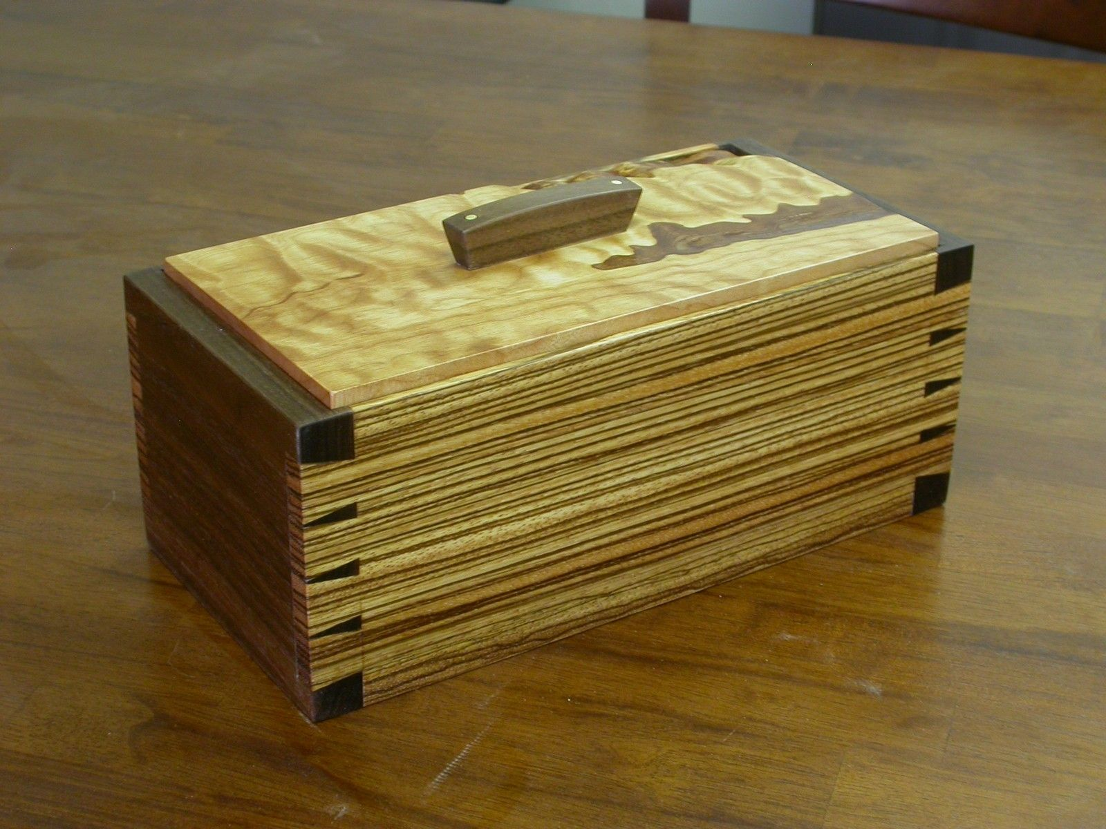 Custom Made Zebra Wood Box By Bow River Craftsman Llc