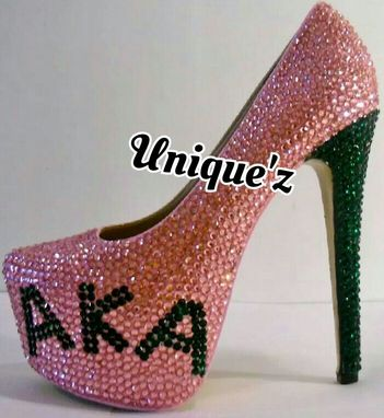 Custom Made Alpha Kappa Alpha Heels (Sorority Pumps)