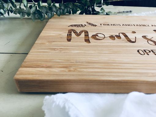 Custom Made Engraved Personalized Bamboo Cutting Board