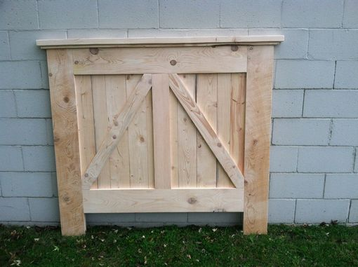 Custom Made Barn Door Headboard