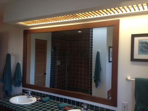 Custom Made Bathroom Mirror Frame Custom Light Cover