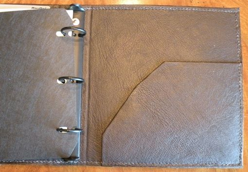 Custom Made Leather Log Sheet Binder