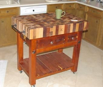 Custom Made Butcher Block Table