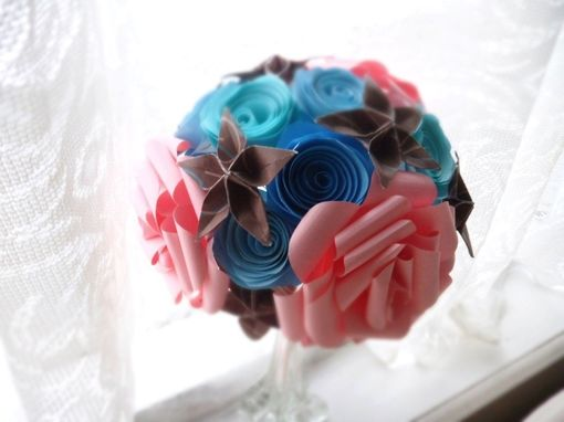 Custom Made Blooming Roses Paper Flower Bouquet