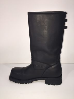 Custom Made Made To Order  14¨ Tall Engineer Boots Thick Leather Dull Finish Men Size
