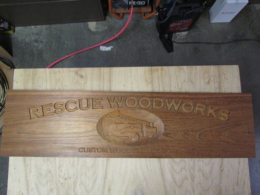 Custom Made Carved Wood Sign