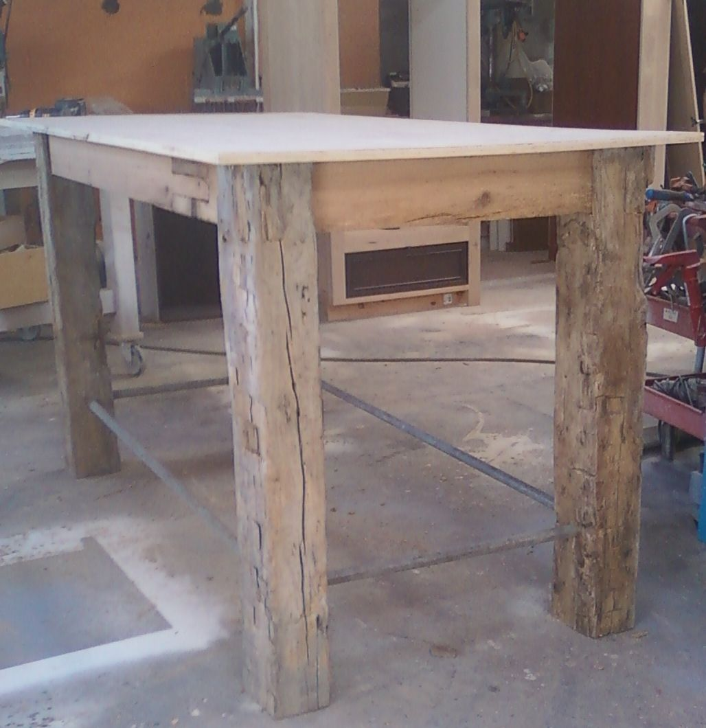 Rustic Outdoor Table: Handmade Rustic Outdoor Table By Santini Custom Furniture