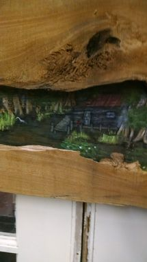 Custom Made Sold Swamp Art On Cypress Specimen 6 Foot Long!!