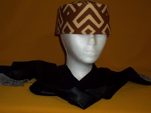 Custom Made Mud Cloth Kufi. Brown And Beidge