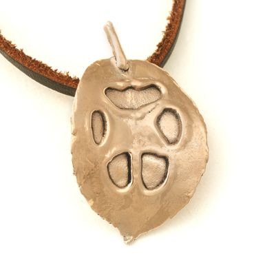Custom Made Copper Dog Or Cat Paw Print Pendant