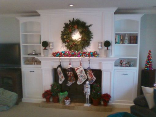 Custom Made Mantel Bookcase