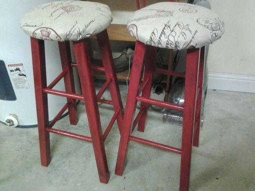 Custom Made Custom Built Pub Table For 2 With Bar Stools
