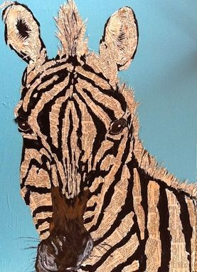 Custom Made Zebra Collage Notecard Set