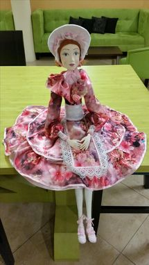 "Custom Made Bony, Boudoir Doll. 29,5"", Paperclay, Silk"