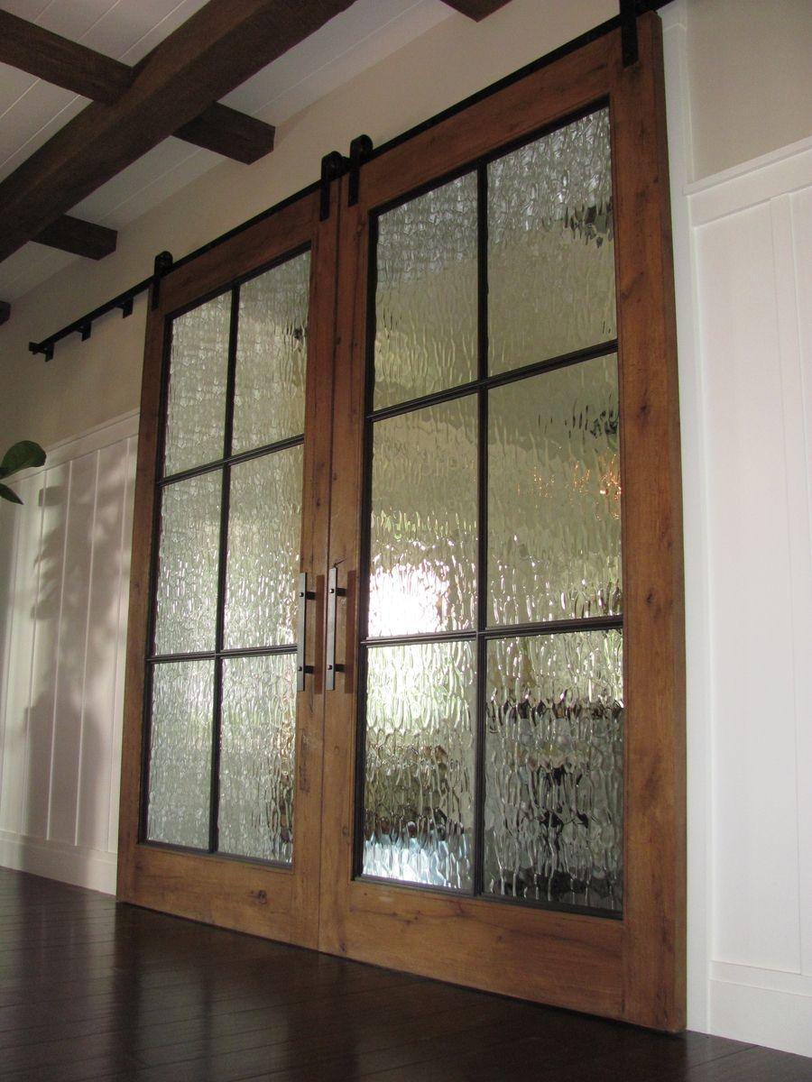 Handmade Track Doors For Wine Country Estate by Werken Design ...