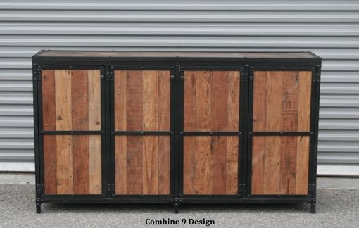 Custom Made Motorized Tv Lift Cabinet - Urban Industrial Style