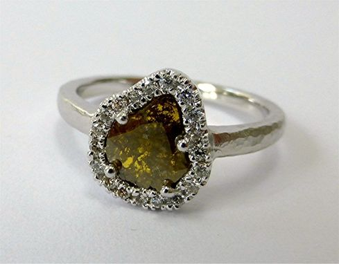 Custom Made A Chic Diamond Slice Ring