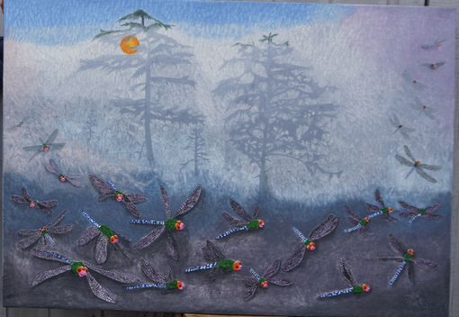 Custom Made Dragonflies Coming Out Of The Fog