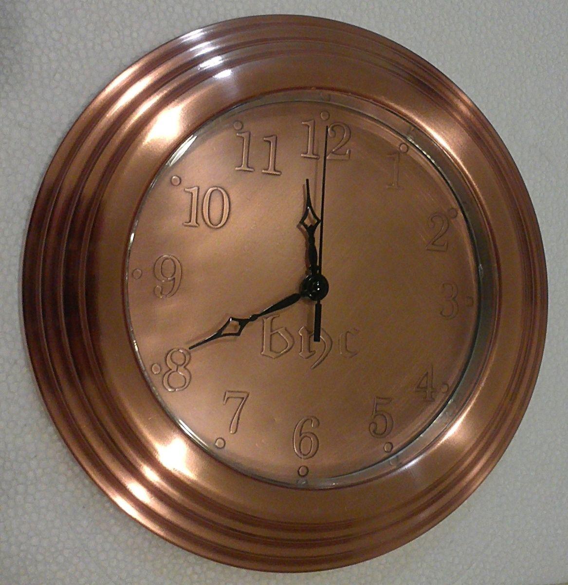 Hand Made Copper Wall Clock By Cu Copper Design