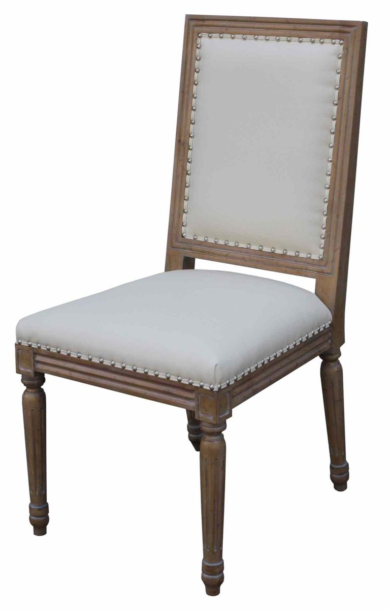 Hand crafted classic custom wood and upholstered dining for Upholstered dining chairs