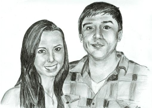 Custom Made Couple Portrait 8 X 10