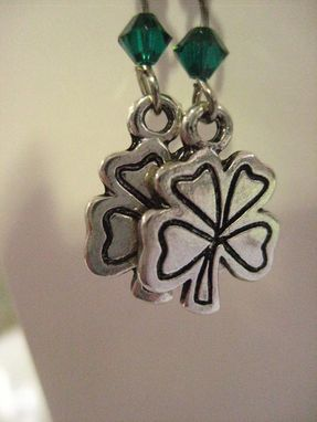 Custom Made Sale Good Luck Four Leaf Clover Earrings, Perfect For St. Patrick's Day