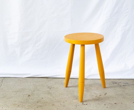 Custom Made Side Stool / Table Windsor Style 3 Legs