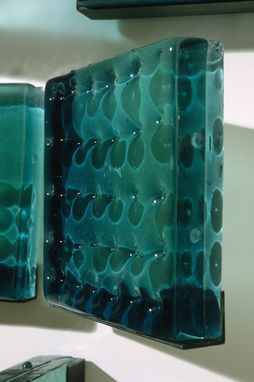 Custom Made Architectural Glass Cast Panels, Wall Installation