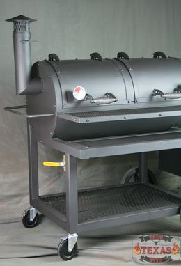 Custom Made Offset Smoker - Heavy Duty Offset Smoker - Texas Bbq Smoker - Barbecue Smoker