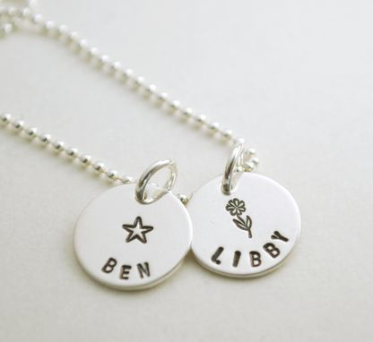 Custom Made Name Charm Necklace With Two Names