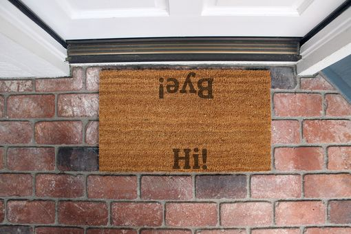 Custom Made Custom Door Mats --Dm-Coir-Hibye