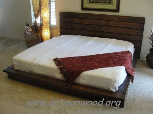 Custom Made King Rustic Platform Bed