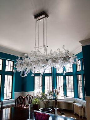 Custom Made 'Dining Room Chandeliers' | Hand Blown Glass Art Chandeliers - Custom Chandeliers