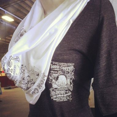 Custom Made Custom Scarf, Print Your Logo, Name, Drawing Or Artwork On This 100% Cotton Scarf!
