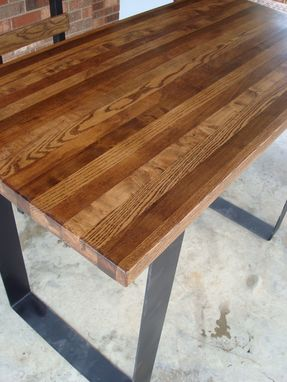 Custom Made Dramatic Stripped Steel Table