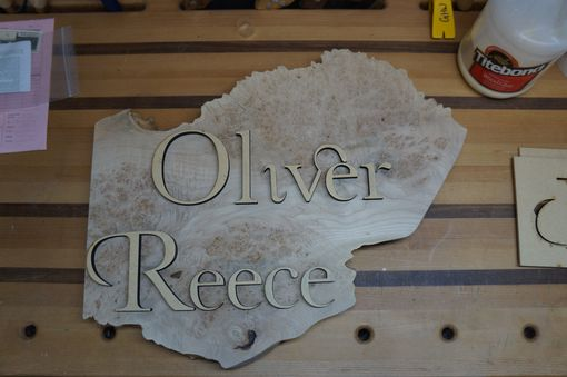 Custom Made Newborn Name Carving