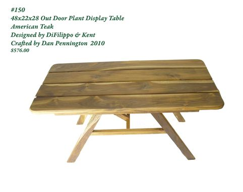 Custom Made American Teak Outdoor Plant Display Table