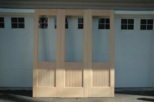 Custom Made Triple Sliding Door With Glass