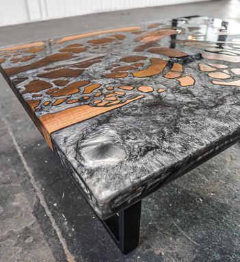 Custom Made Estuary River Coffee Table