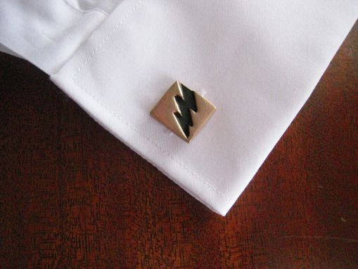 Custom Made Solid Bronze Lightning Bolt Cuff Link