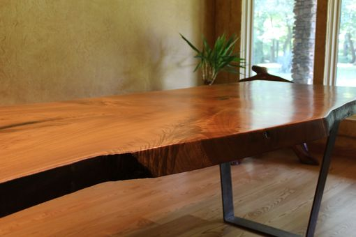 Custom Made Live Edge Dining Or Conference Table. Catalpa(Cigar Wood).