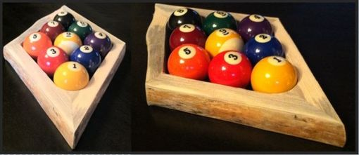 Custom Made Rustic 8-Ball Or 9-Ball Pool Racks - Made Of Red Pine With Natural Edge - Sold Separately