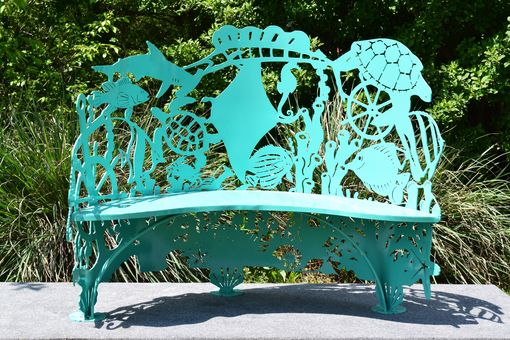Custom Made Sea Creatures Steel- Metal Bench