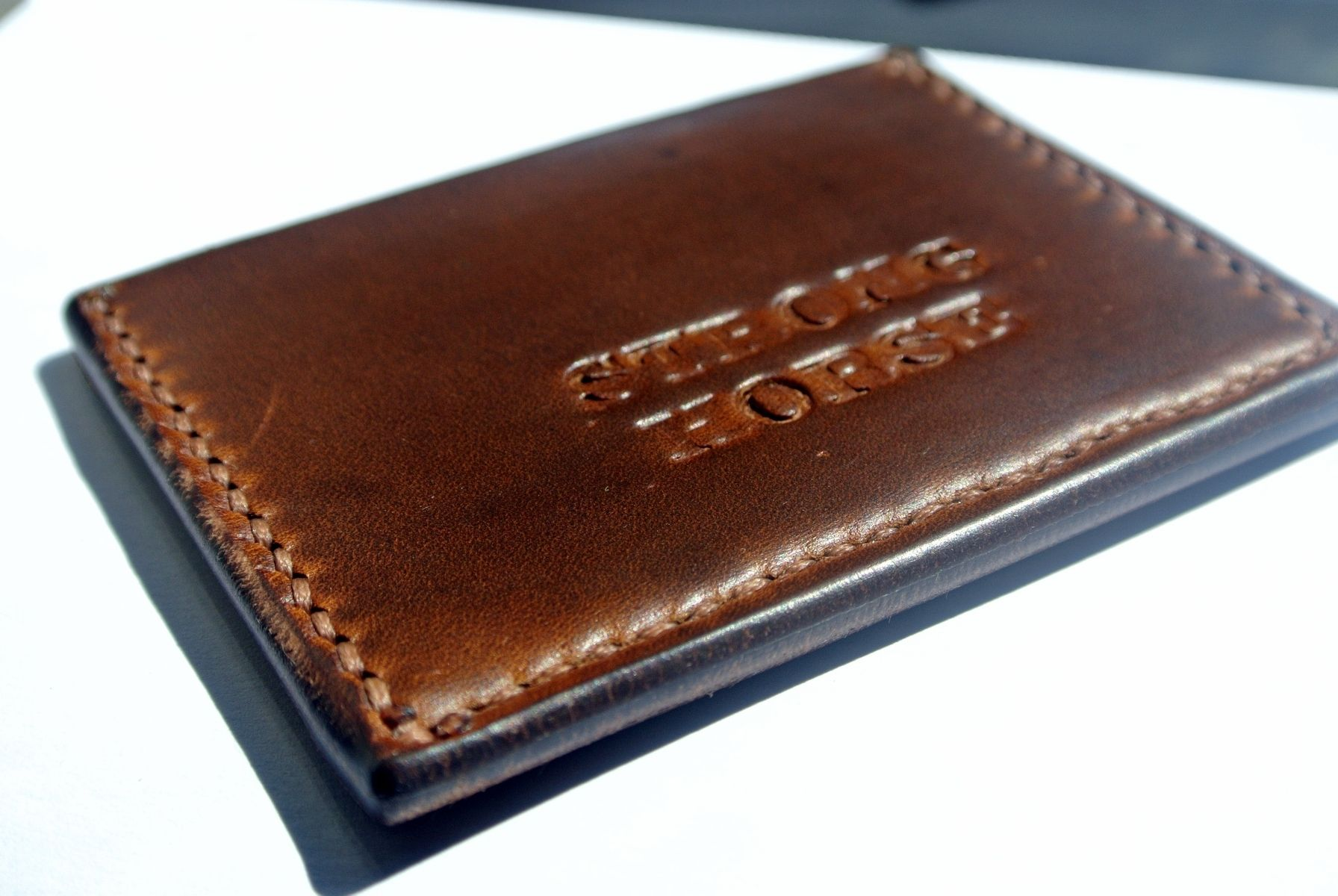 Handmade The Duke Minimalist Leather Wallet By Strong