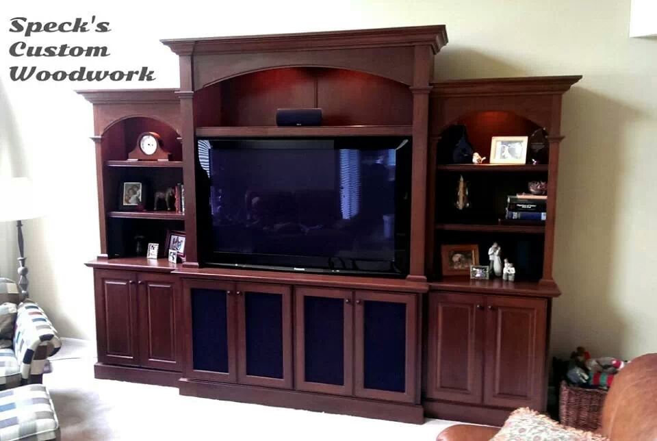 Handmade Cherry Entertainment Center Bookcase By Speck