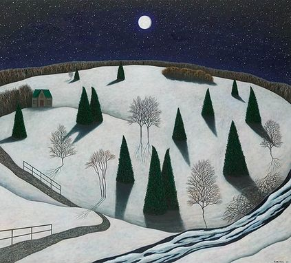 "Custom Made ""Berkshire Nightscape"" Giclee Print"